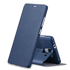 Funda de Cuero Cartera con Soporte L02 para Huawei Honor 7 Azul