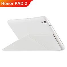 Funda de Cuero Cartera con Soporte L02 para Huawei Honor Pad 2 Blanco