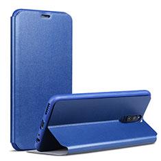 Funda de Cuero Cartera con Soporte L02 para Huawei Mate 10 Lite Azul