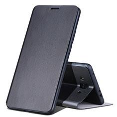 Funda de Cuero Cartera con Soporte L02 para Huawei Mate 10 Negro