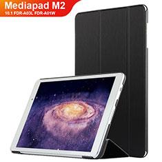 Funda de Cuero Cartera con Soporte L02 para Huawei MediaPad M2 10.1 FDR-A03L FDR-A01W Negro