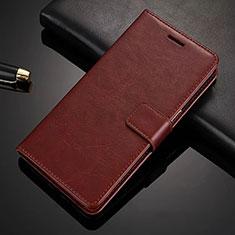 Funda de Cuero Cartera con Soporte L02 para Nokia X6 Marron