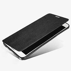 Funda de Cuero Cartera con Soporte L02 para Samsung Galaxy Note 5 N9200 N920 N920F Negro