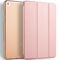 Funda de Cuero Cartera con Soporte L02 para Xiaomi Mi Pad 3 Oro Rosa