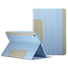 Funda de Cuero Cartera con Soporte L03 para Apple iPad Mini 3 Azul Cielo