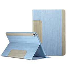 Funda de Cuero Cartera con Soporte L03 para Apple iPad Mini 4 Azul Cielo