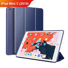 Funda de Cuero Cartera con Soporte L03 para Apple iPad Mini 5 (2019) Azul