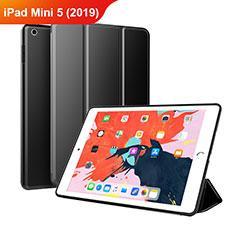Funda de Cuero Cartera con Soporte L03 para Apple iPad Mini 5 (2019) Negro
