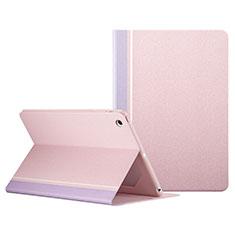 Funda de Cuero Cartera con Soporte L03 para Apple iPad Mini Rosa