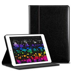 Funda de Cuero Cartera con Soporte L03 para Apple iPad Pro 10.5 Negro