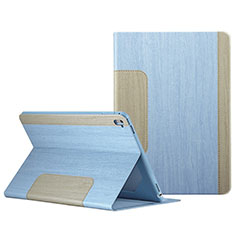 Funda de Cuero Cartera con Soporte L03 para Apple iPad Pro 9.7 Azul Cielo