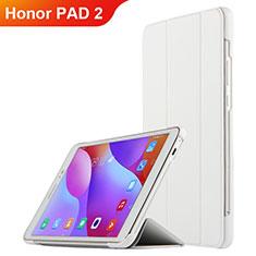 Funda de Cuero Cartera con Soporte L03 para Huawei Honor Pad 2 Blanco