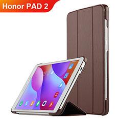 Funda de Cuero Cartera con Soporte L03 para Huawei Honor Pad 2 Marron