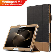 Funda de Cuero Cartera con Soporte L03 para Huawei MediaPad M2 10.0 M2-A01 M2-A01W M2-A01L Negro