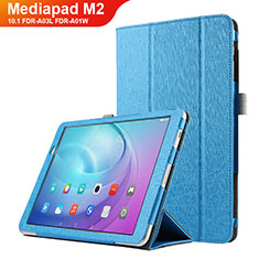 Funda de Cuero Cartera con Soporte L03 para Huawei MediaPad M2 10.1 FDR-A03L FDR-A01W Azul Cielo