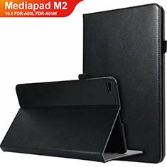 Funda de Cuero Cartera con Soporte L03 para Huawei MediaPad M2 10.1 FDR-A03L FDR-A01W Negro