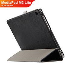 Funda de Cuero Cartera con Soporte L03 para Huawei MediaPad M3 Lite 10.1 BAH-W09 Negro