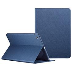 Funda de Cuero Cartera con Soporte L04 para Apple iPad Mini 3 Azul