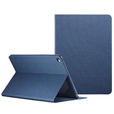 Funda de Cuero Cartera con Soporte L04 para Apple iPad Mini 4 Azul