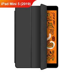 Funda de Cuero Cartera con Soporte L04 para Apple iPad Mini 5 (2019) Negro
