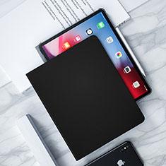 Funda de Cuero Cartera con Soporte L04 para Apple iPad Pro 12.9 (2018) Negro
