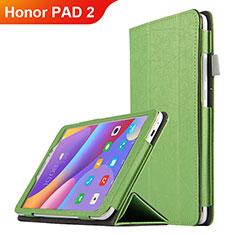 Funda de Cuero Cartera con Soporte L04 para Huawei Honor Pad 2 Verde
