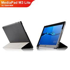 Funda de Cuero Cartera con Soporte L04 para Huawei MediaPad M3 Lite 10.1 BAH-W09 Negro