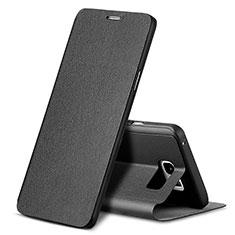 Funda de Cuero Cartera con Soporte L04 para Samsung Galaxy Note 5 N9200 N920 N920F Negro
