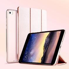 Funda de Cuero Cartera con Soporte L04 para Xiaomi Mi Pad 3 Oro Rosa