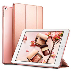 Funda de Cuero Cartera con Soporte L05 para Apple iPad Mini 4 Oro Rosa