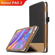Funda de Cuero Cartera con Soporte L05 para Huawei Honor Pad 2 Negro