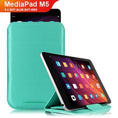 Funda de Cuero Cartera con Soporte L06 para Huawei MediaPad M5 8.4 SHT-AL09 SHT-W09 Cian
