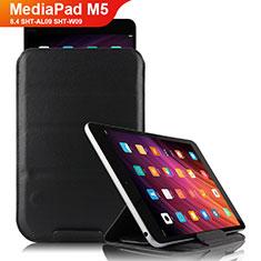 Funda de Cuero Cartera con Soporte L06 para Huawei MediaPad M5 8.4 SHT-AL09 SHT-W09 Negro