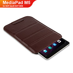 Funda de Cuero Cartera con Soporte L07 para Huawei MediaPad M5 8.4 SHT-AL09 SHT-W09 Marron