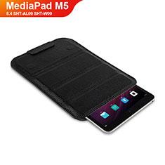 Funda de Cuero Cartera con Soporte L07 para Huawei MediaPad M5 8.4 SHT-AL09 SHT-W09 Negro