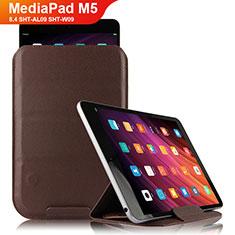 Funda de Cuero Cartera con Soporte L09 para Huawei MediaPad M5 8.4 SHT-AL09 SHT-W09 Marron