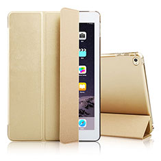 Funda de Cuero Cartera con Soporte para Apple iPad Air 2 Oro