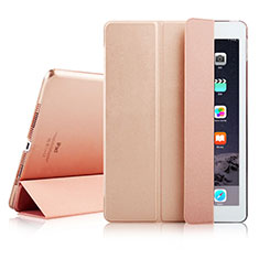 Funda de Cuero Cartera con Soporte para Apple iPad Air 2 Oro Rosa