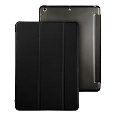 Funda de Cuero Cartera con Soporte para Apple iPad Air Negro