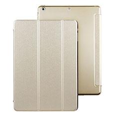 Funda de Cuero Cartera con Soporte para Apple iPad Air Oro