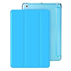 Funda de Cuero Cartera con Soporte para Apple iPad Mini 3 Azul Cielo