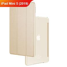 Funda de Cuero Cartera con Soporte para Apple iPad Mini 5 (2019) Oro