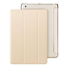 Funda de Cuero Cartera con Soporte para Apple iPad Mini Oro