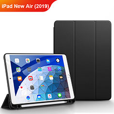 Funda de Cuero Cartera con Soporte para Apple iPad New Air (2019) 10.5 Negro