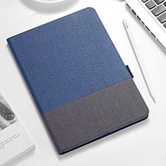 Funda de Cuero Cartera con Soporte para Apple iPad Pro 12.9 (2018) Azul y Negro