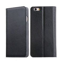 Funda de Cuero Cartera con Soporte para Apple iPhone 6S Negro