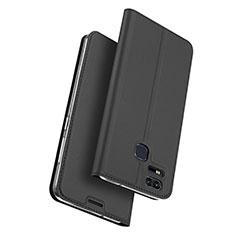 Funda de Cuero Cartera con Soporte para Asus Zenfone 3 Zoom Negro