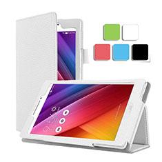 Funda de Cuero Cartera con Soporte para Asus ZenPad C 7.0 Z170CG Blanco