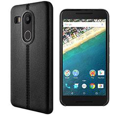 Funda de Cuero Cartera con Soporte para Google Nexus 5X Negro