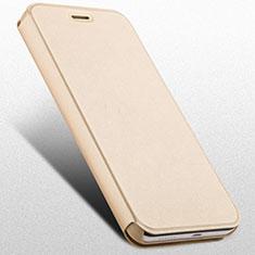 Funda de Cuero Cartera con Soporte para Huawei Honor 4X Oro